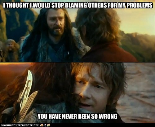 Sudden Change of Heart Thorin,blame,problems