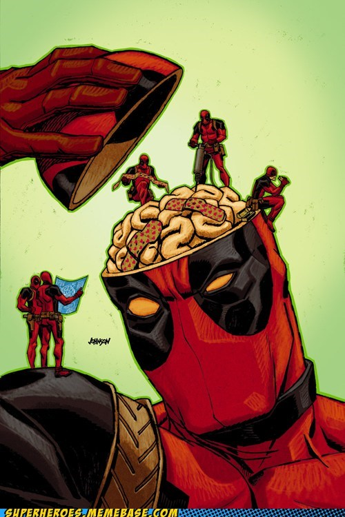 wtf art deadpool brain - 7078703872