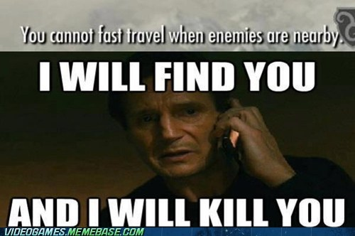 meme elder scrolls fast travel - 7079035392