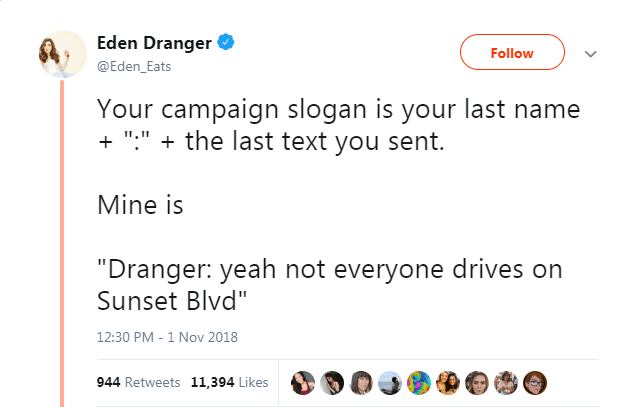 twitter campaign last name slogan election - 7079173