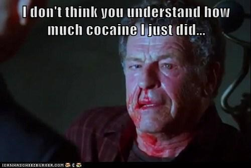 Walter Bishop,John Noble,Fringe,nosebleed,coke