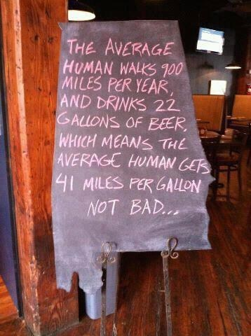beer miles per gallon humans not bad after 12 g rated - 7079618304