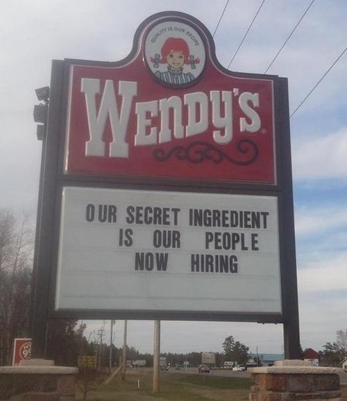 people,billboards,wendys,Soylent Green,cannibals