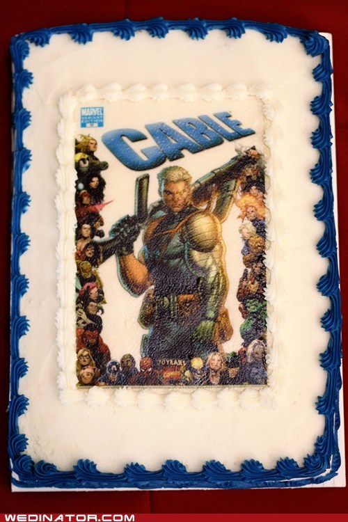 comic books,grooms cake,cable