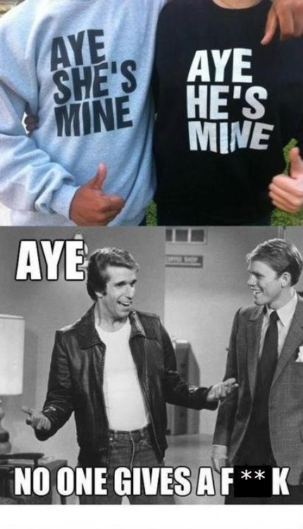 the fonz,t shirts,aye
