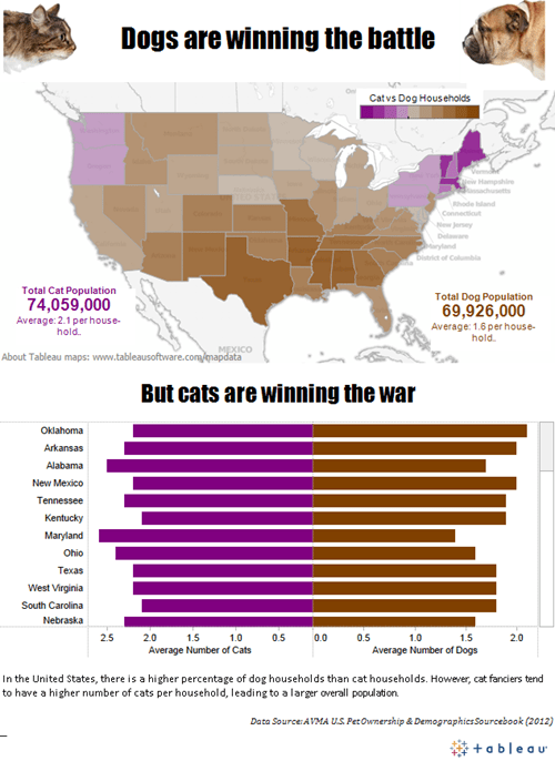 dogs pets map infographic Cats - 7079934976