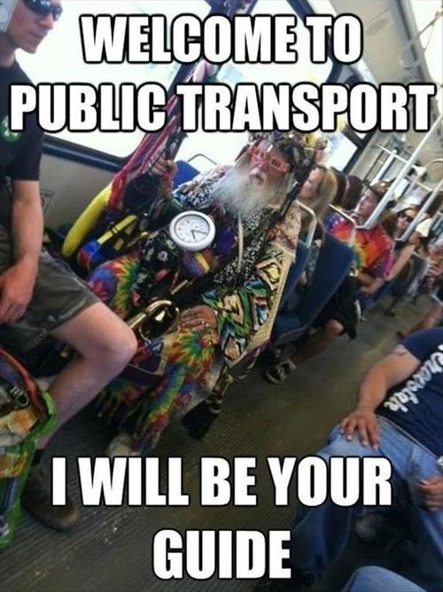 crazy guy public transportation wizards bus - 7079939584