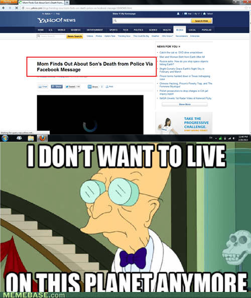i dont want to live on this planet,facebook,police