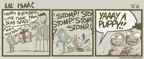 stomp present dead space comic isaac clarke