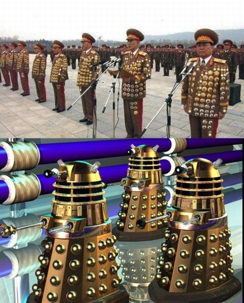 military,daleks,North Korea,doctor who