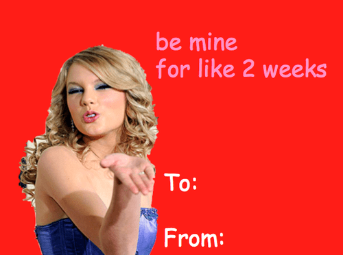 taylor swift be mine valentine's day cards - 7080401152