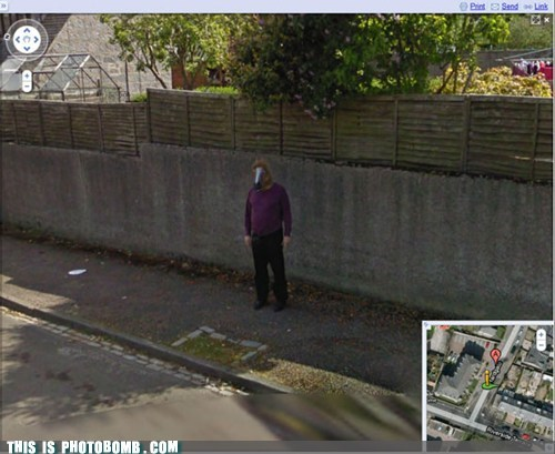 horse head mask,google street view