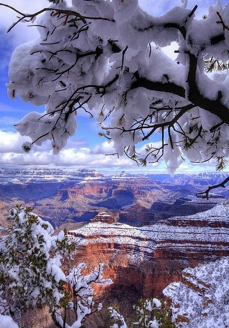 canyon snow landscape winter - 7080713472