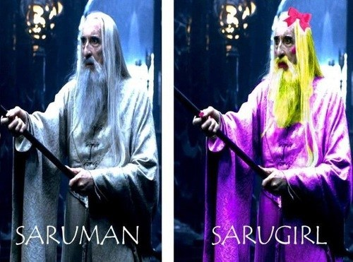 saruman,shoop,man,Lord of the Rings,opposites,girl,suffix