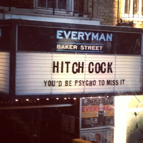 subliminal messaging psycho hitchcock Movie alfred hitchcock suggestion marquee - 7080721920