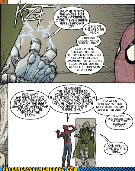 Spider-Man human torch pranks dr doom