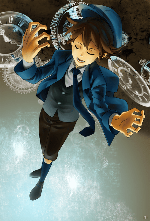 Fan Art,professor layton,unwound future