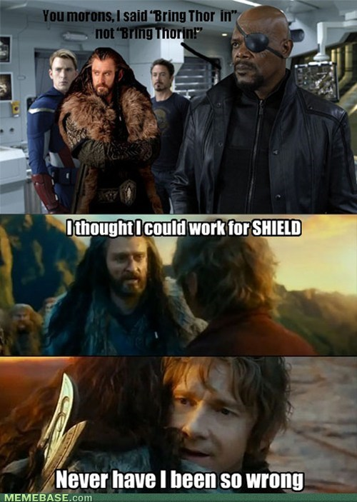 Sudden Change of Heart Thorin,The Avengers,The Hobbit,superheroes