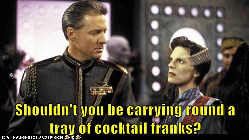 Shouldn't you be carrying round a tray of cocktail franks?