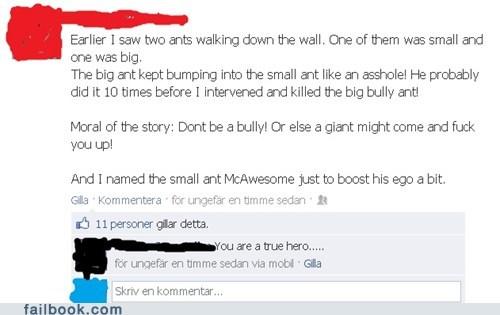 bullies,ants
