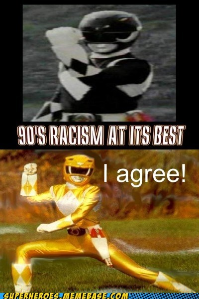 power rangers racism yellow black - 7082074368