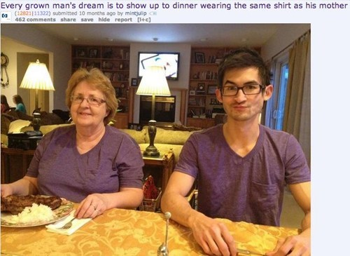motherson,dinner,same outfits