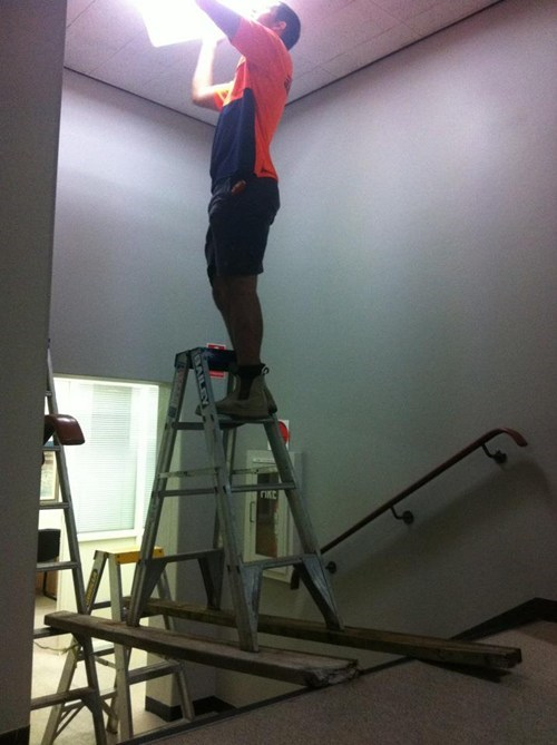 ladder,safety first,health insurance