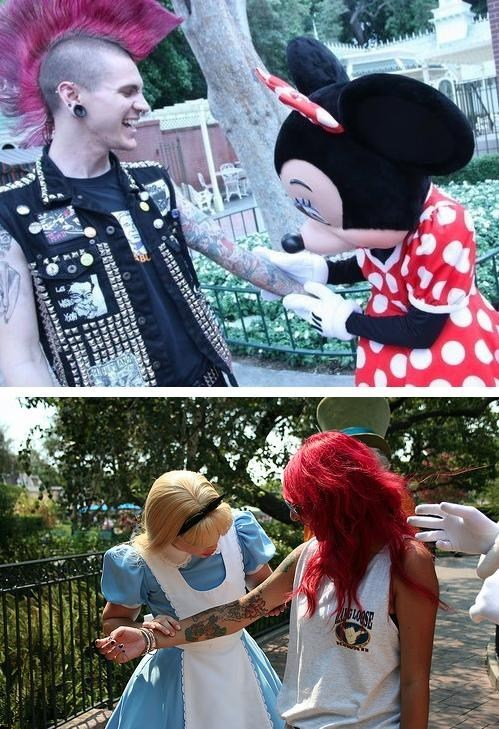 arm tattoos,disney,punks