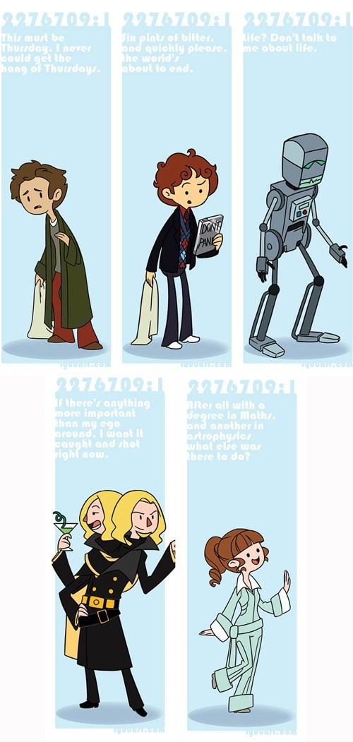 arthur dent Fan Art bookmarks ford prefect zaphod beeblebrox marvin the paranoid android The Hitchhiker's Guide to the Galaxy trillian