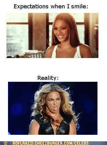 expectations vs reality,beyoncé,derp