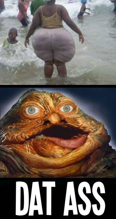 swimming jabba the hutt dat ass