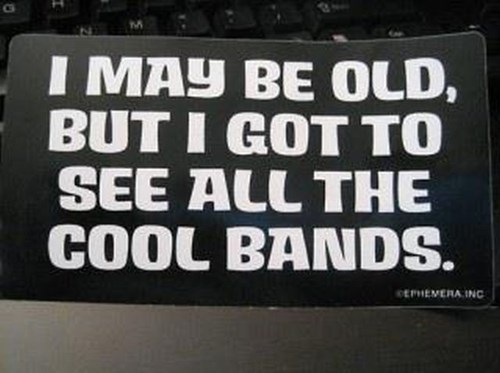 old concerts bumper stickers - 7082620160