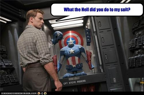 What the Hell did you do to my suit?