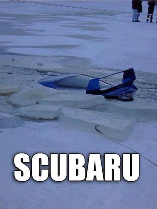 scuba FAIL puns cars subaru ice fail nation g rated - 7082707456