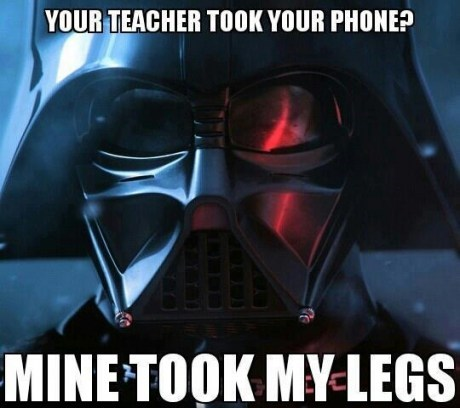 star wars,teachers,darth vader,truancy story