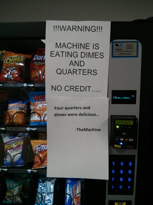 quarters feed me vending machine machine - 7082748160