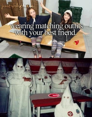 best friends,racists,same outfits