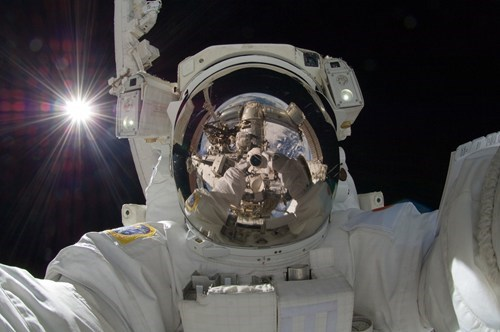 in spaaaace selfie self poortraits astronaut g rated AutocoWrecks