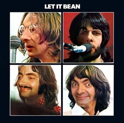 the Beatles,rowan atkinson,shopped pixels