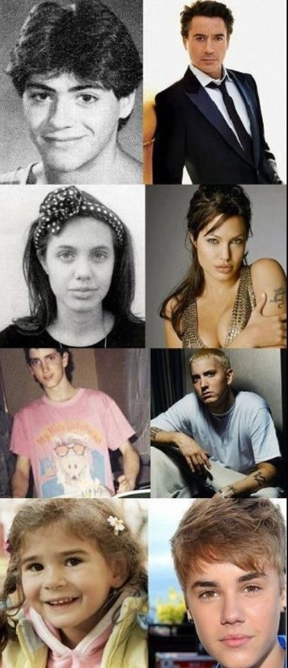 then vs now,eminem,celeb,justin bieber