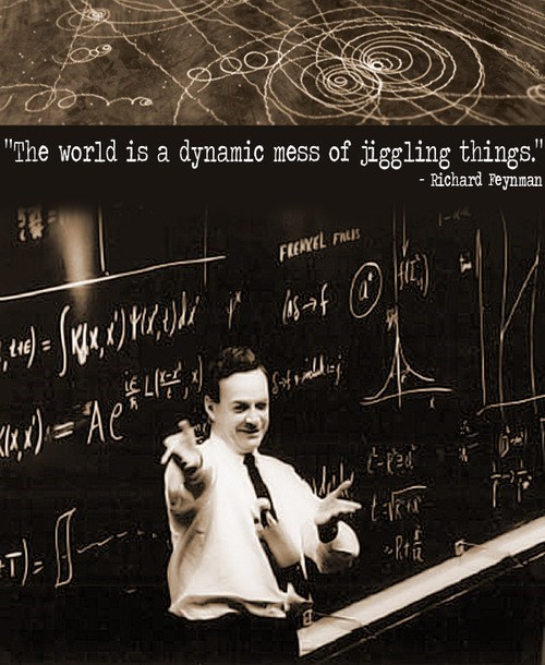 things,jiggling,richard feynman