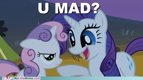 u mad,troll,rarity