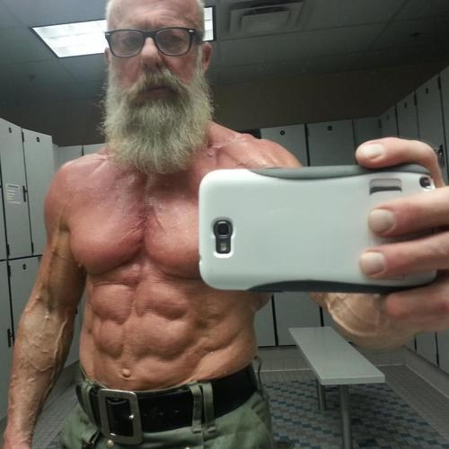 BAMF senior citizen ripped swole selfie g rated win - 7083633408
