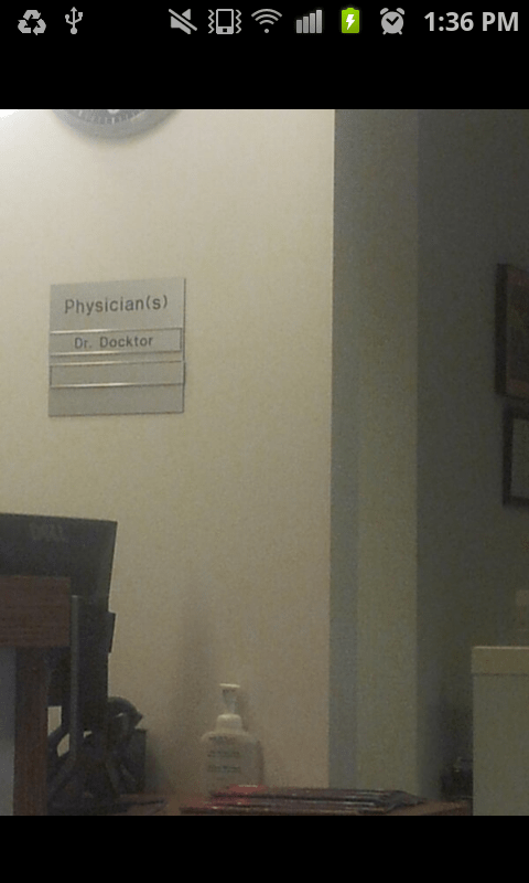 sign doctor name