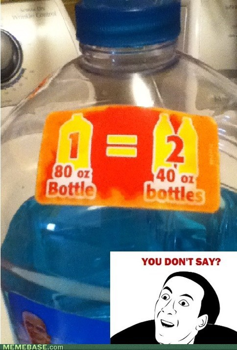 you dont say,math,bottles