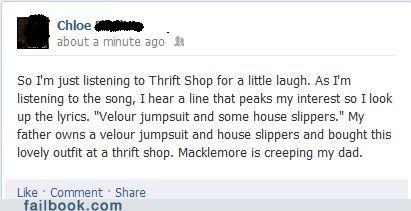 Macklemore wanz thrift shop Ryan Lewis - 7083788288