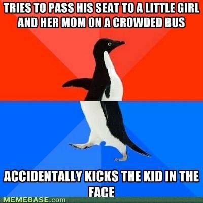 socially awkward penguin public transit socially awesome penguin - 7084820480