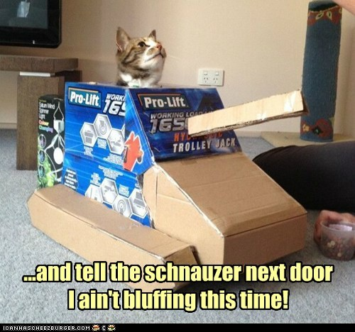 ...and tell the schnauzer next door I ain't bluffing this time!