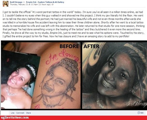 redditors tattoo fix portrait tattoos g rated Ugliest Tattoos restoring faith in humanity week - 7085202944