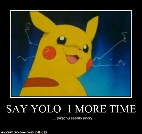 SAY YOLO  1 MORE TIME